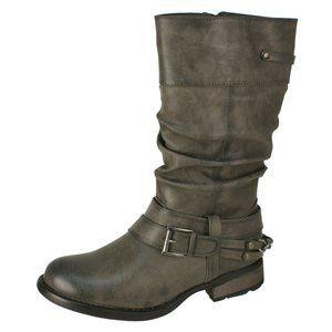 Rieker Tall Buckle Winter Boots Size 41